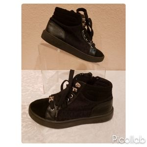 Michael Kors Ivy Serafina Black High Top Shoes